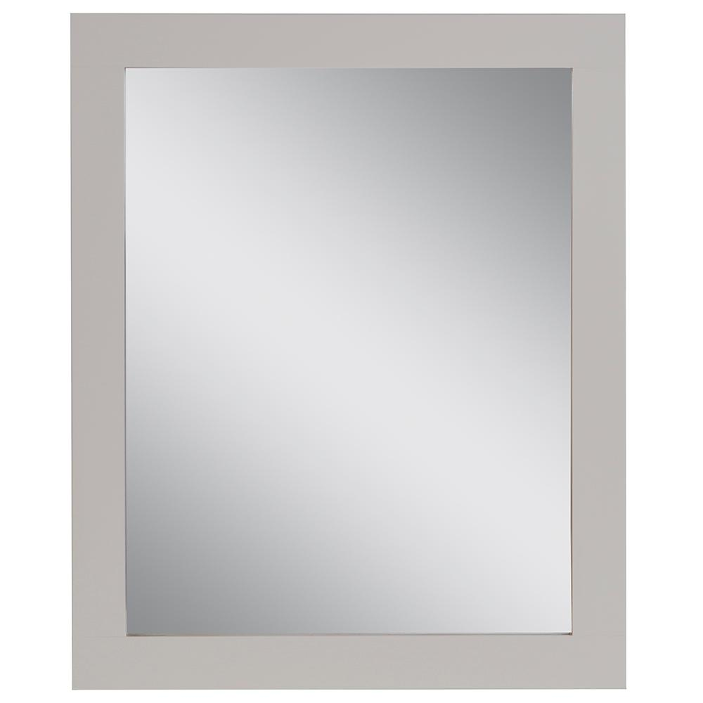 Home Decorators Collection Westcourt 26 in. W x 31 in. H Framed Wall Mirror in Cream