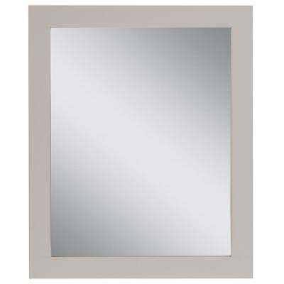 Westcourt 25.67 in. W x 31.38 in. H Framed Wall Mirror in Cream