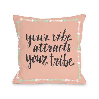 Vibe Tribe 16 in. x 16 in. Decorative Pillow