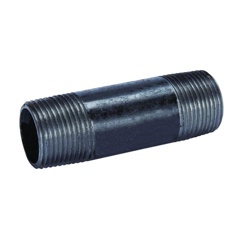 """1//2/"""" X 8/"""" LDR Black Steel Nipple Fitting LOT OF 30"""