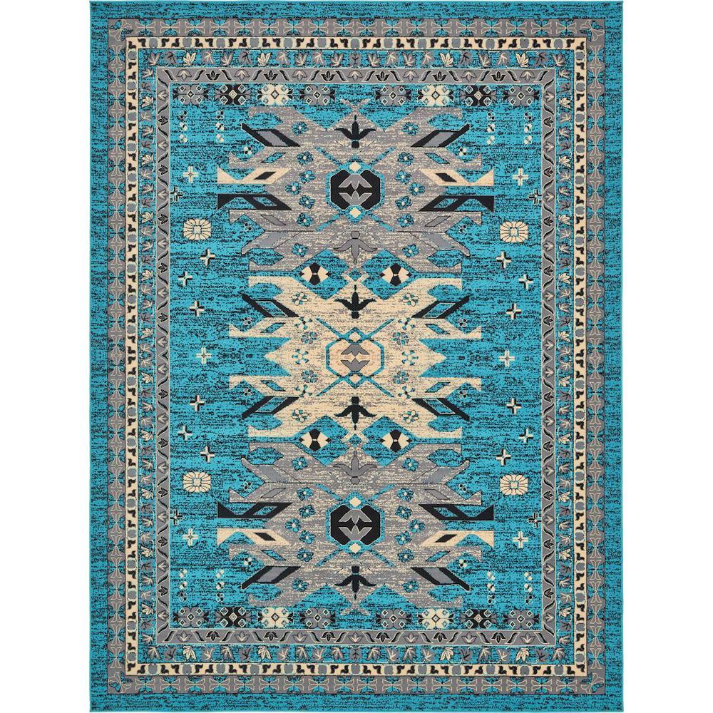 Taftan Oasis Turquoise 9' 0 x 12' 0 Area Rug
