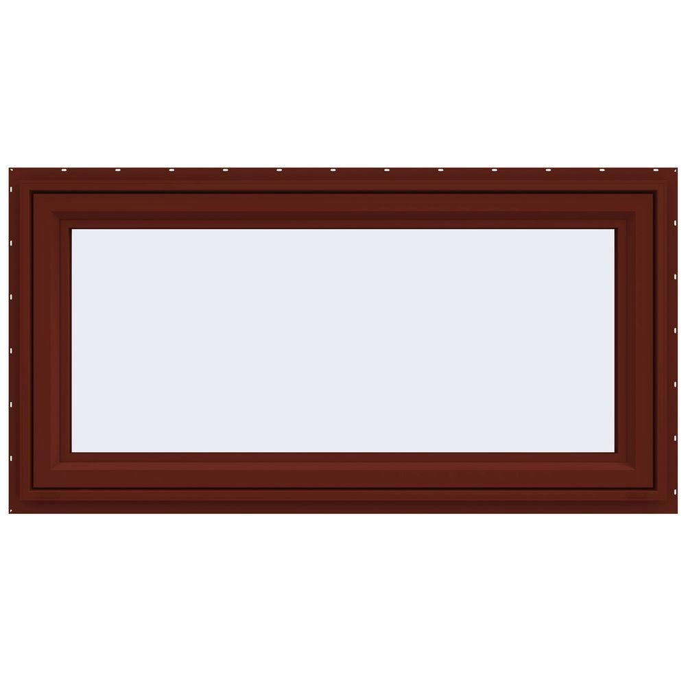 JELD-WEN 47.5 in. x 23.5 in. V-4500 Series Awning Vinyl Window - Red