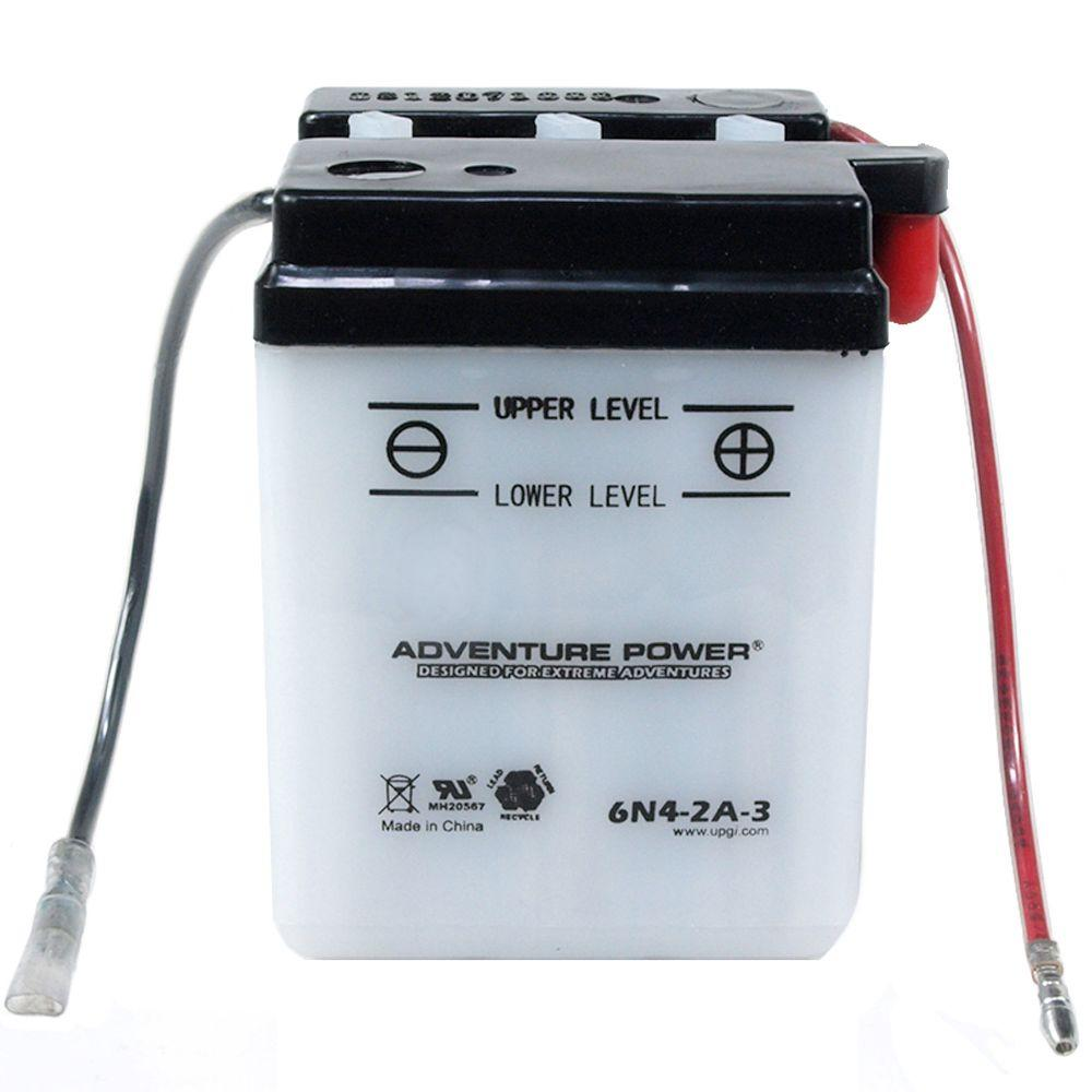 UPG Conventional Wet Pack 6-Volt 4 Ah Capacity P Terminal Battery