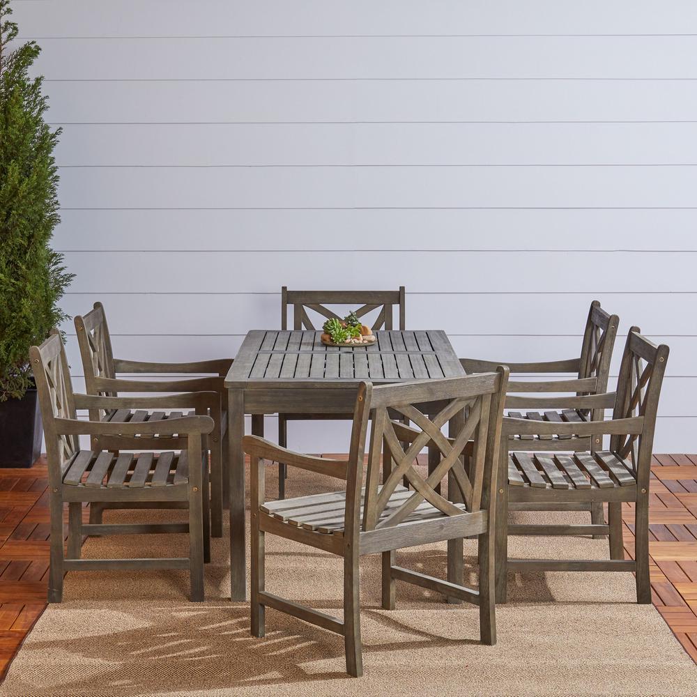 Vifah Renaissance 7-Piece Rectangle Patio Dining Set -  V1297SET12