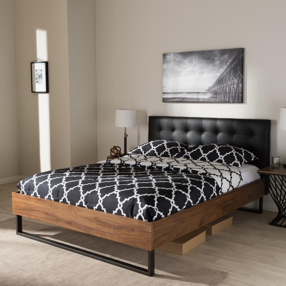 Baxton studio ester vintage industrial black finished for Industrial bedroom furniture