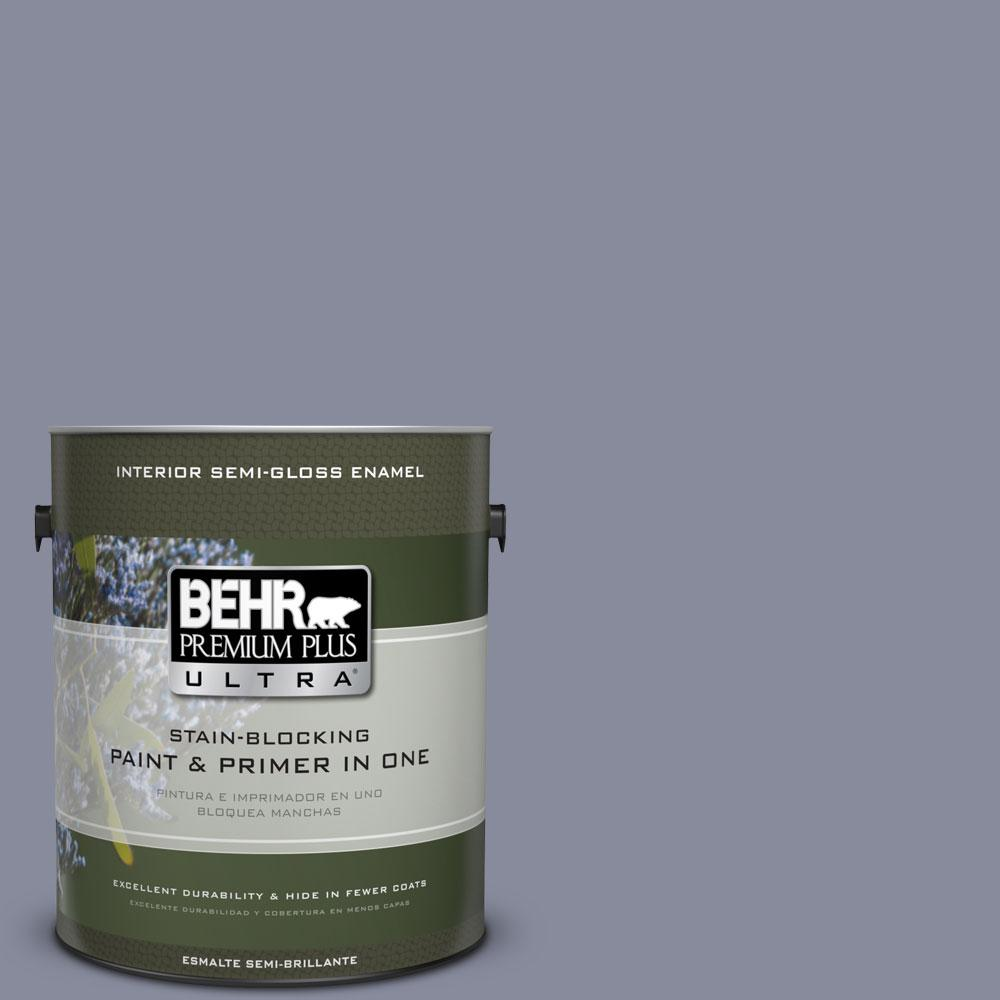 BEHR Premium Plus Ultra 1-gal. #PPU15-8 River Tour Semi-Gloss Enamel Interior Paint