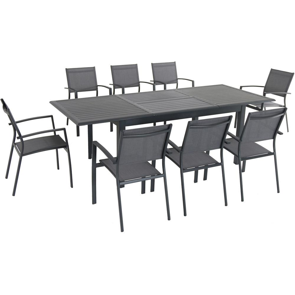 Cambridge Turner 9-Piece Aluminum Outdoor Dining Set with 8-Sling Dining  Chairs and 40 in. x 94 in. Table