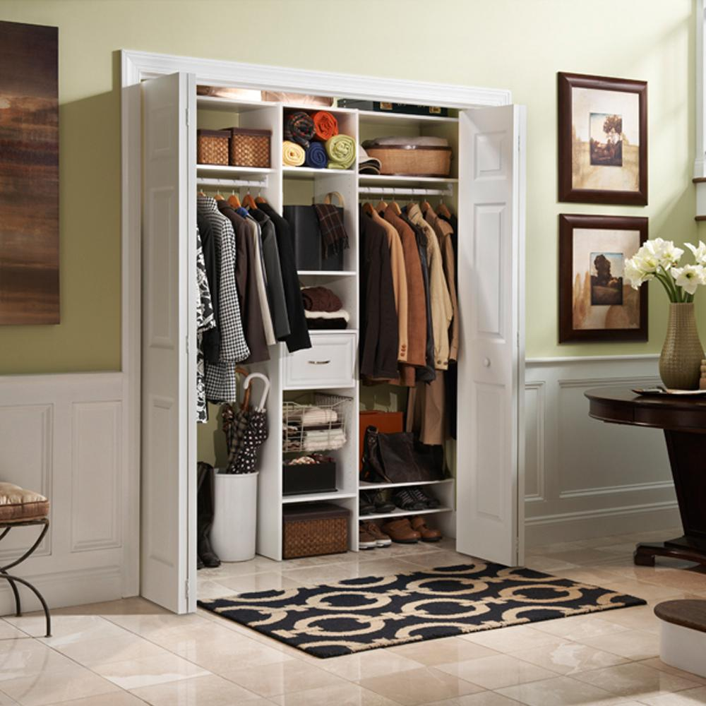 white stackable closet bedroom storage organizer shoe rack