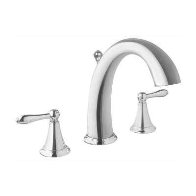 Montbeliard 8 in. Widespread 2-Handle Mid-Arc Bathroom Faucet in Chrome