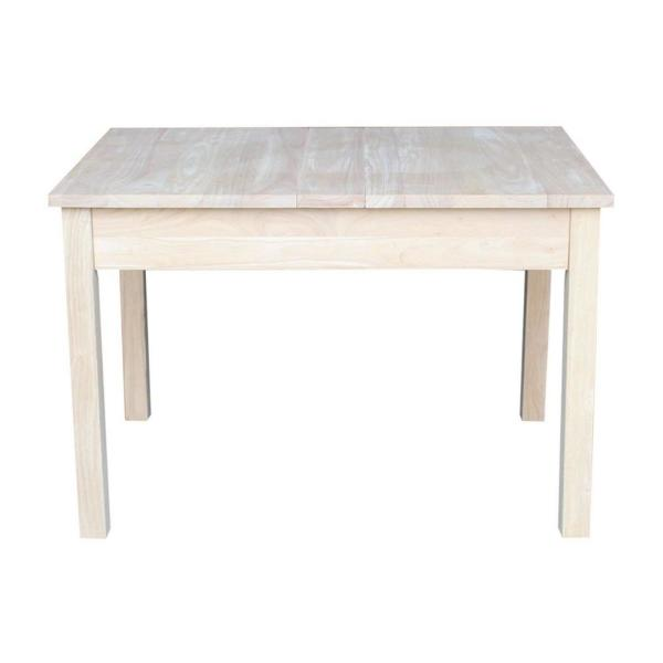 International Concepts Unfinished Storage Kid S Table
