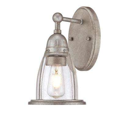 North Shore 1-Light Weathered Steel Wall Mount Sconce