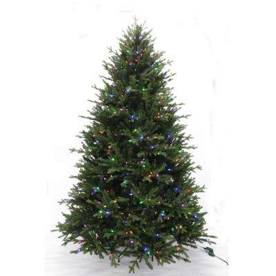 7.5 ft. Pre-Lit LED WRGB Royal Northern Fir Artificial Christmas Tree