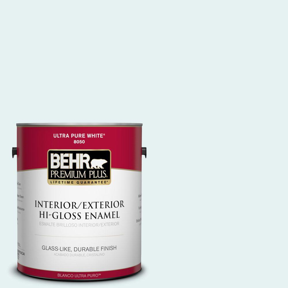 BEHR Premium Plus 1-gal. #BL-W4 Ethereal White Hi-Gloss Enamel Interior/Exterior Paint