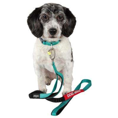 Large Blue Neo-Indestructible Easy-Tension Sporty Embroidered Thick Durable Pet Dog Leash and Collar