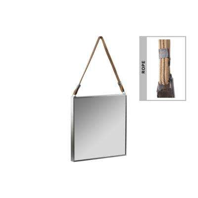 Square Gray Tarnished Mirror
