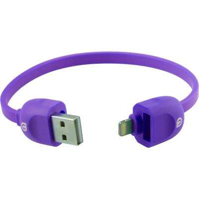 Lock & Go Lightning Sync Charge Cable Bracelet - Purple