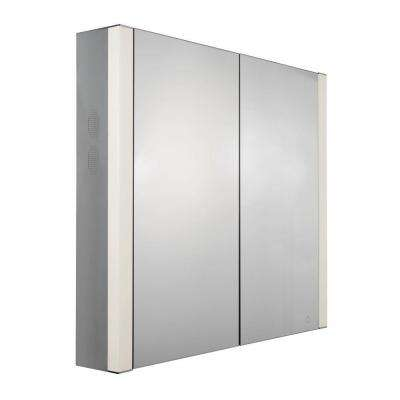 Musichaus 27-1/2 in. W x 31-1/2 in. H x 6 in. D Surface-Mount Medicine Cabinet in Anodized Aluminum