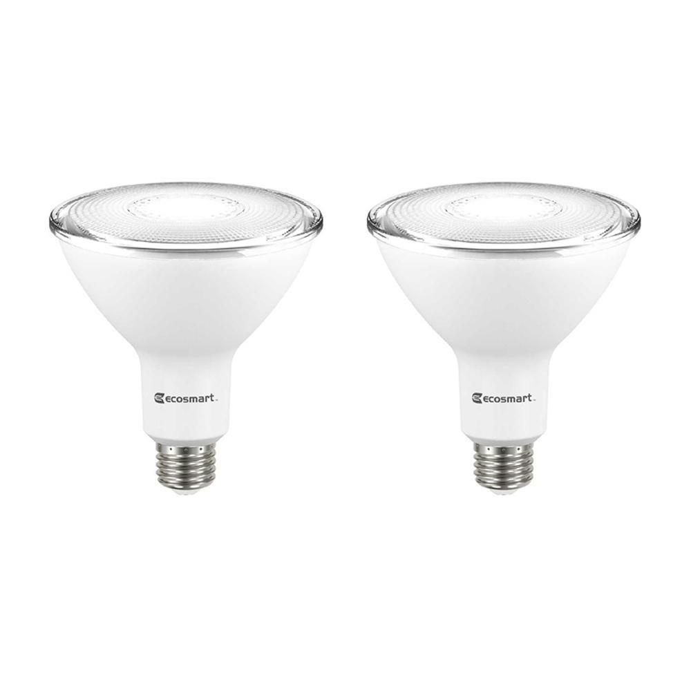 120-Watt Equivalent PAR38 Dimmable Flood LED Light Bulb Bright White (2-Pack)