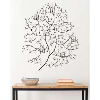 33.8 in. 7 - Votive Tree Wall Decor