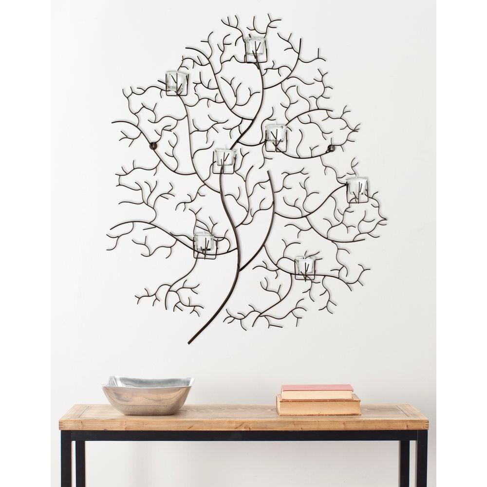 Safavieh 33.8 in. 7 - Votive Tree Wall Decor