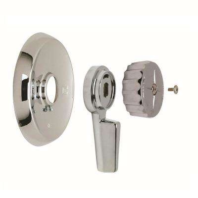 1-Handle Tub and Shower Faucet Trim Kit for Mixet Non-Pressure Balanced Valves in Chrome (Valve Not Included)