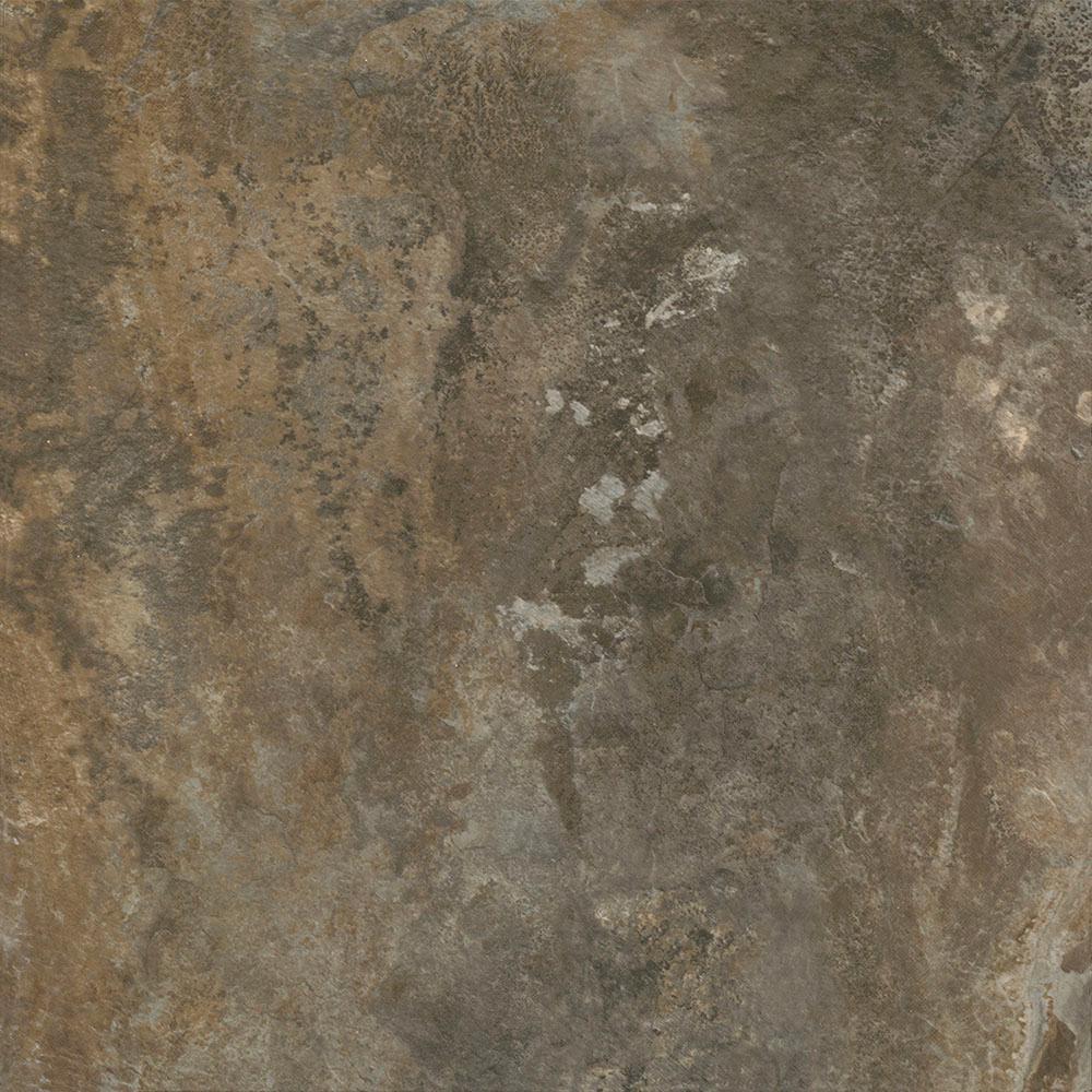 TrafficMASTER Take Home Sample - Dark Grey Slate Peel and Stick Vinyl Tile Flooring - 5 in. x 7 in.