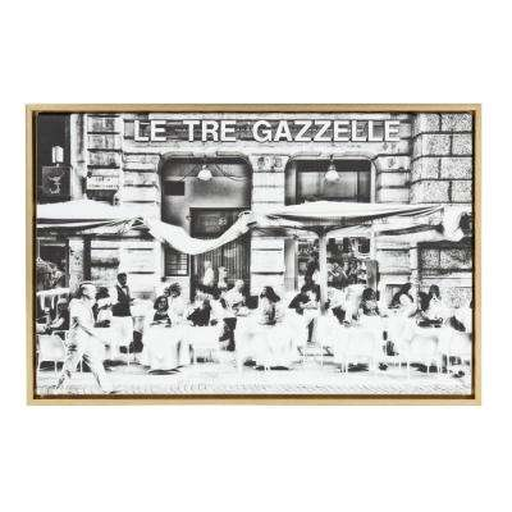 """Sylvie """"Le Tre Gazzelle"""" by Golie Framed Canvas Wall Art"""