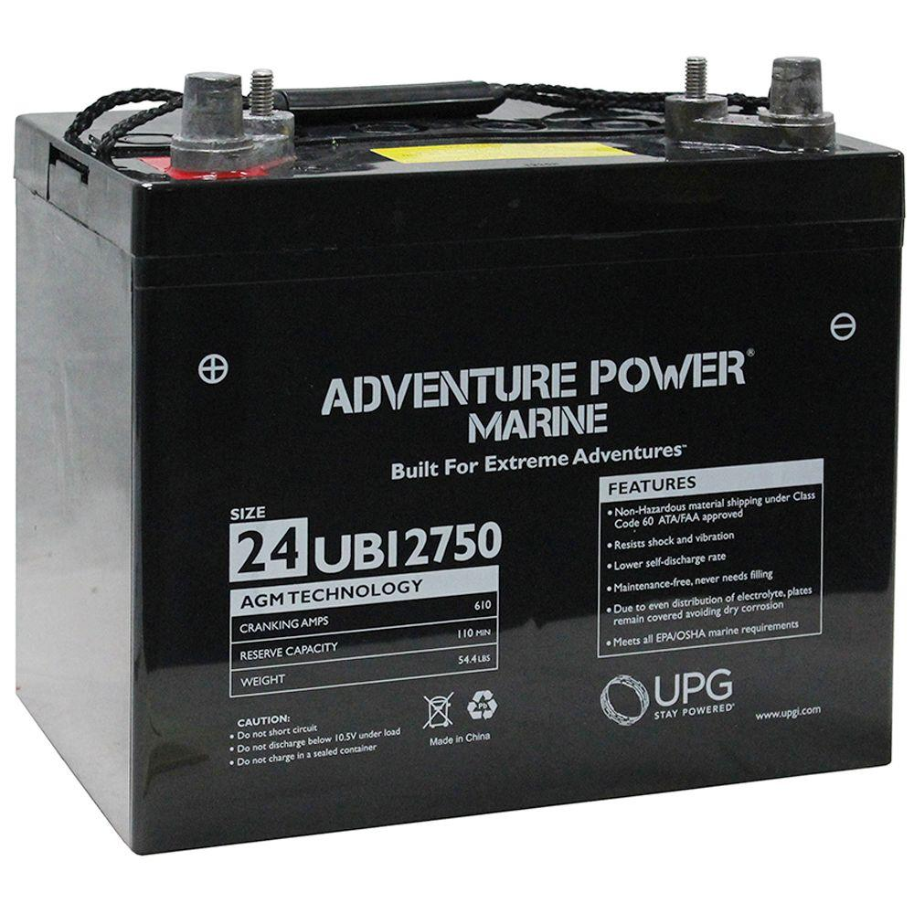 UPG Series 24 12-Volt Marine Post Battery