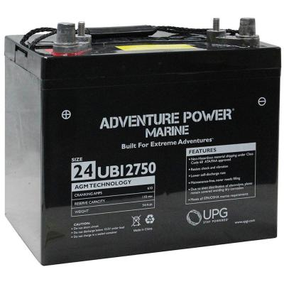 Series 24 75 Ah 12-Volt Sealed Lead Acid (SLA) AGM Rechargeable Marine Post Battery