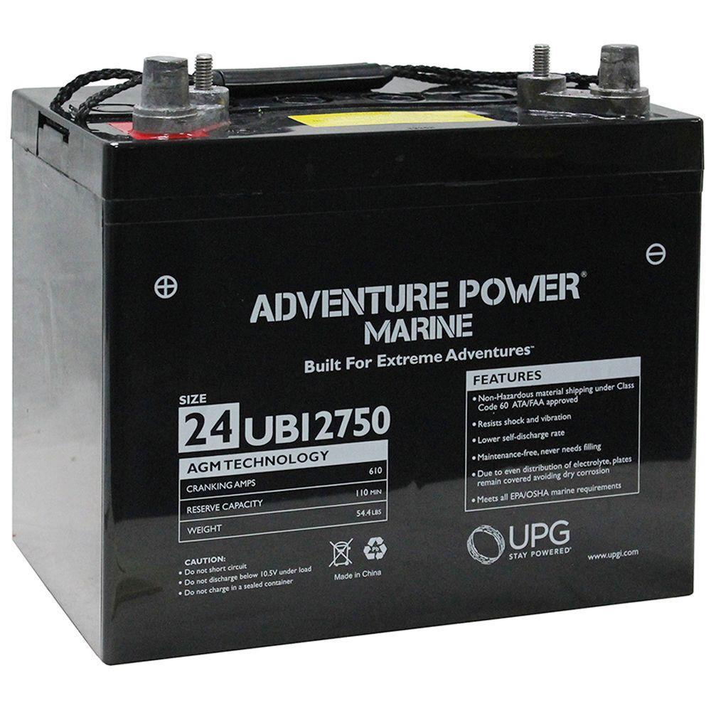 UPG Series 24 12-Volt Marine Post Battery