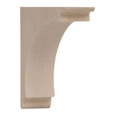 5 in. x 1-3/4 in. x 5 in. Small Arch Wood Corbel