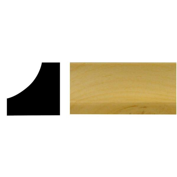 3/4 in. x 3/4 in. x 96 in. Wood North America Knotty Pine Inside Corner Moulding