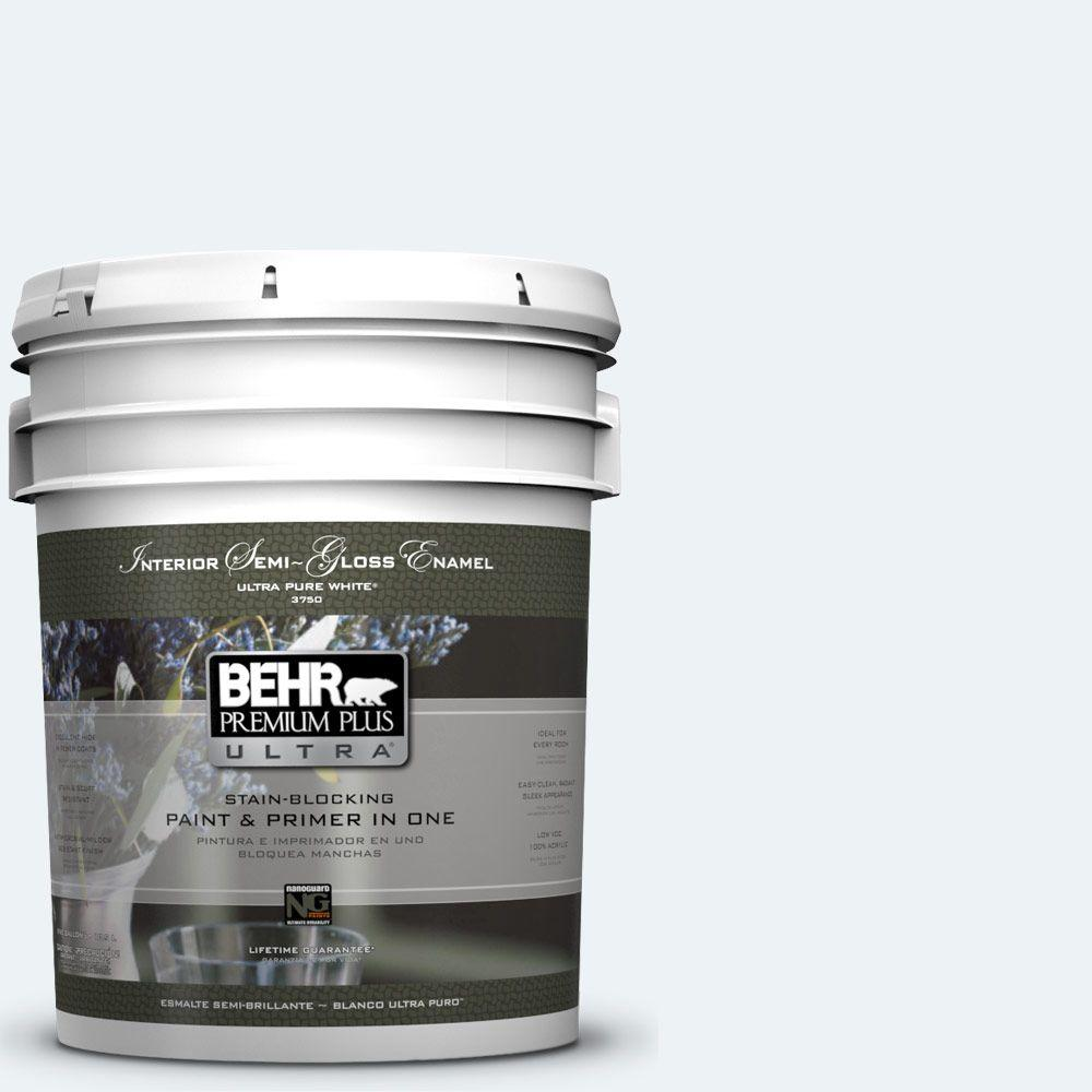 5-gal. #BL-W10 Maui Mist Semi-Gloss Enamel Interior Paint