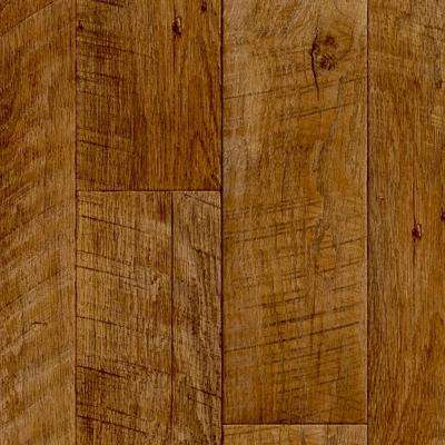 Saw Cut Plank Natural 13.2 ft. Wide x Your Choice Length Residential Vinyl Sheet Flooring