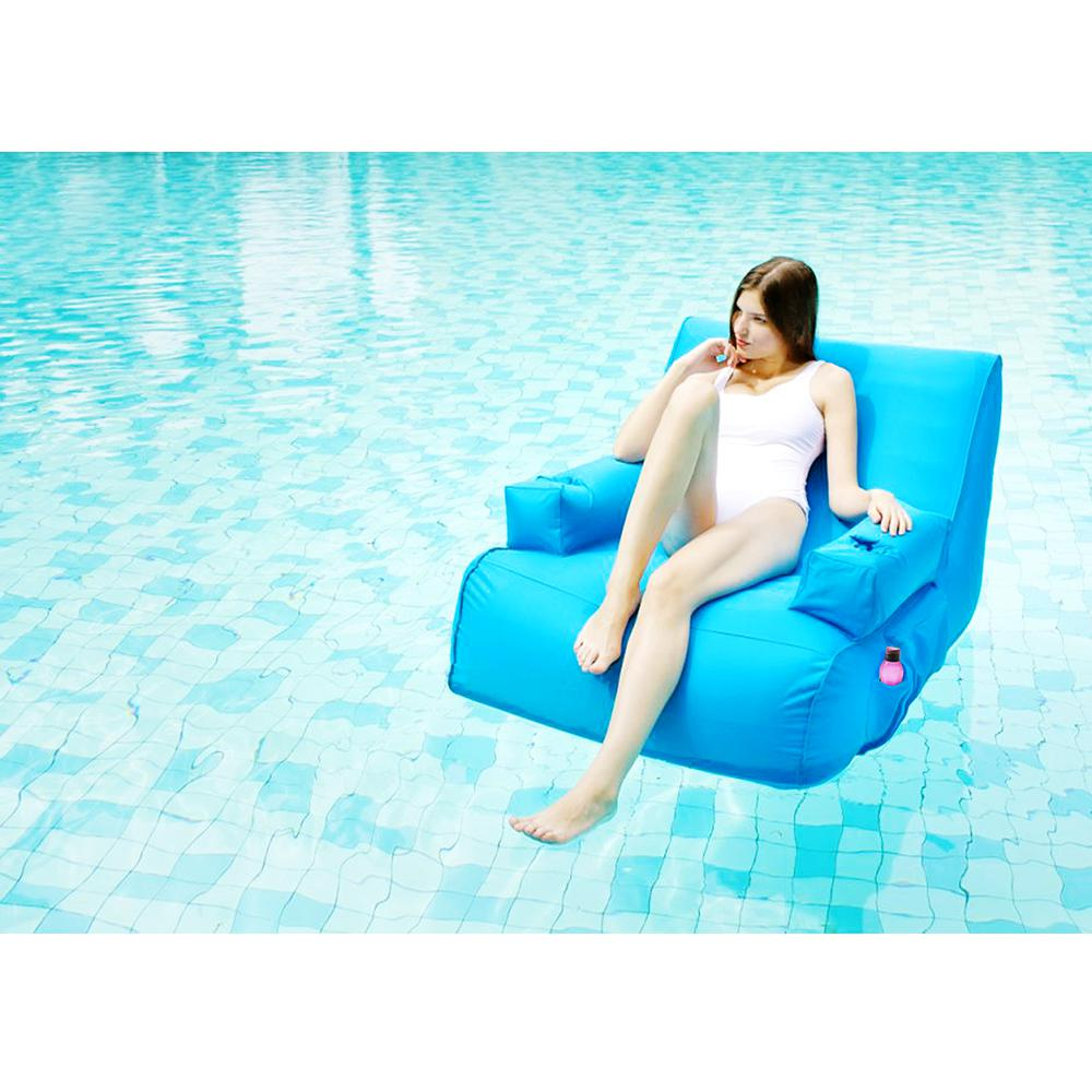 Miami Blue Pool Float Sun Lounger