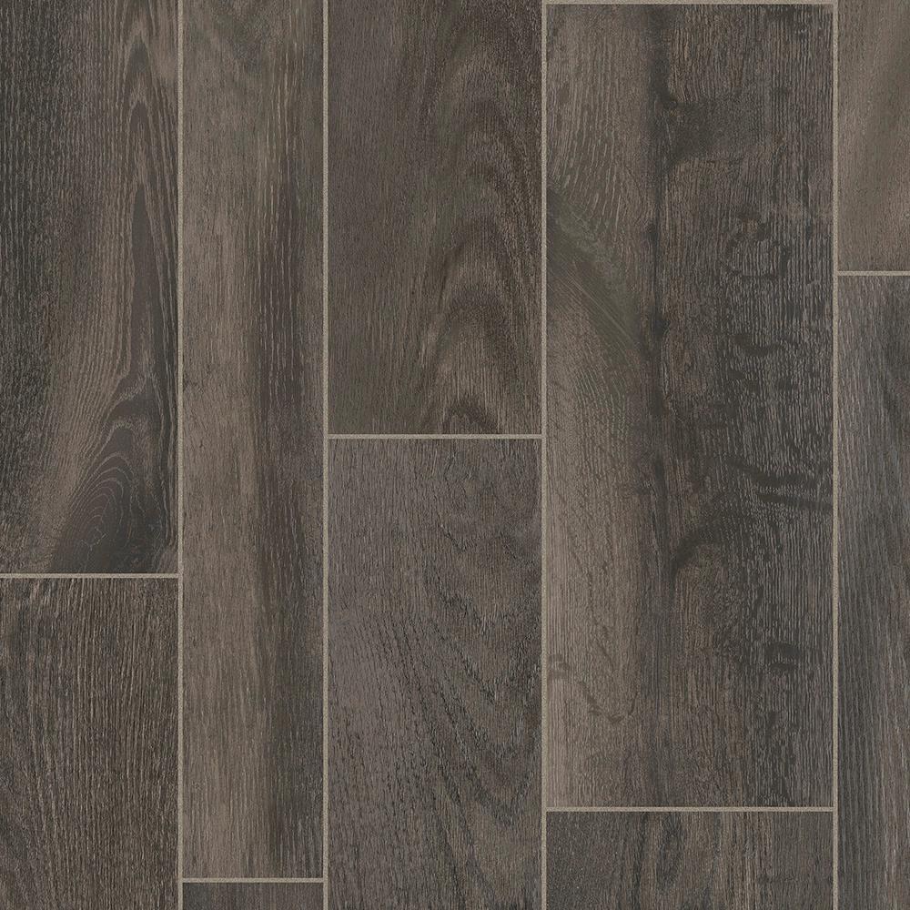 Take Home Sample - Oak Porter Residential Vinyl Sheet Flooring - 6 in. x 9 in.