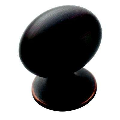 Allison Value 1-3/8 in (35 mm) Length Oil-Rubbed Bronze Cabinet Knob