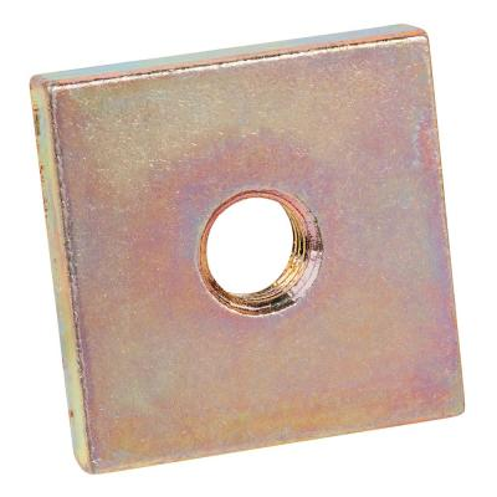 3/8 in. Gold Galvanized Square Nut (Case of 100)