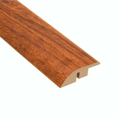 High Gloss Jatoba 12.7 mm Thick x 1-3/4 in. Wide x 94 in. Length Laminate Hard Surface Reducer Molding
