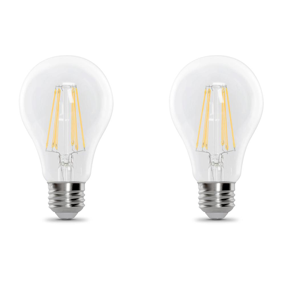 100-Watt Equivalent A21 Dimmable Filament LED 90+ CRI Clear Glass Light