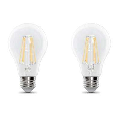 100-Watt Equivalent A21 Dimmable Filament LED 90+ CRI Clear Glass Light Bulb, Soft White (2-Pack)