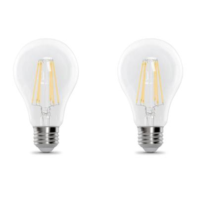 100-Watt Equivalent A21 Dimmable Filament CEC Title 20 Compliant LED 90+ CRI Clear Glass Light Bulb, Soft White (2-Pack)