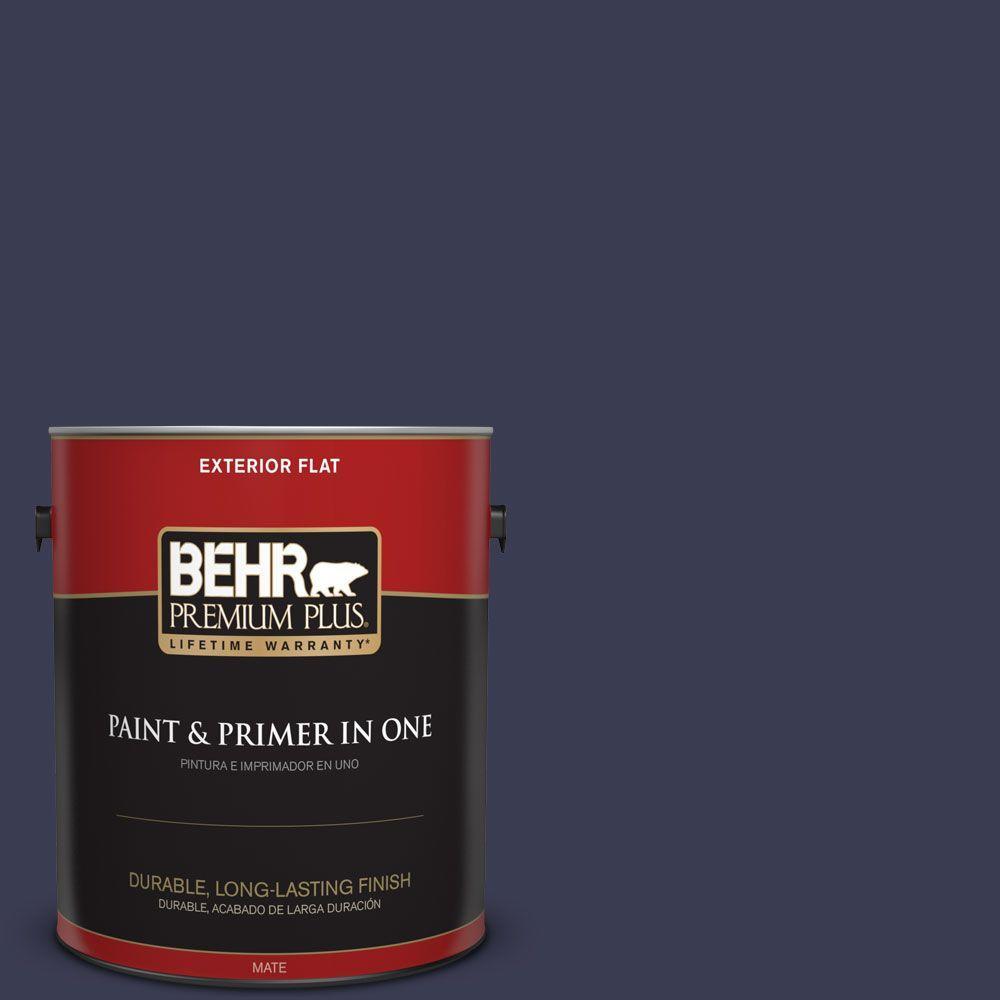 1 gal. #HDC-WR16-03 Blueberry Tart Flat Exterior Paint