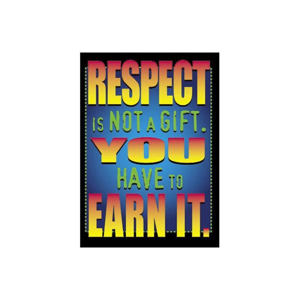 TREND ENTERPRISES INC. Respect is Not a Gift Poster