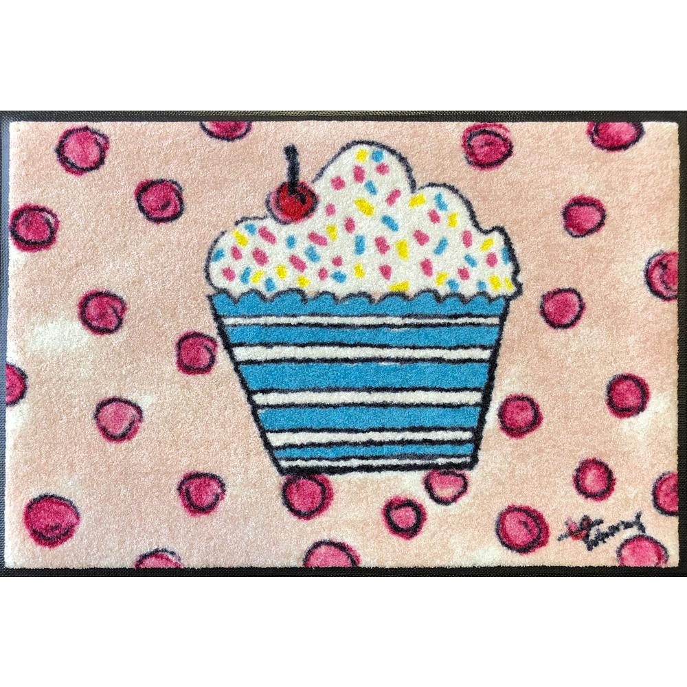 Whimsy Cupcake 20 in. x 30 in. Nylon Doormat