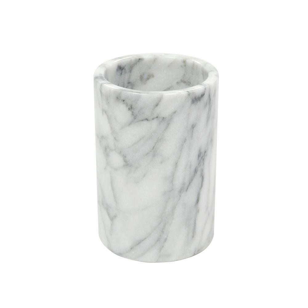 4.5 in. Diameter x 6 in. H Wine Cooler in White Marble