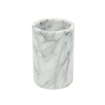 4.5 in. Diameter x 6 in. H Wine Cooler in White Marble