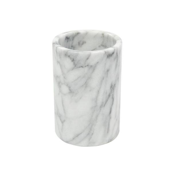 Creative Home 4.5 in. Diameter x 6 in. H Wine Cooler in White Marble