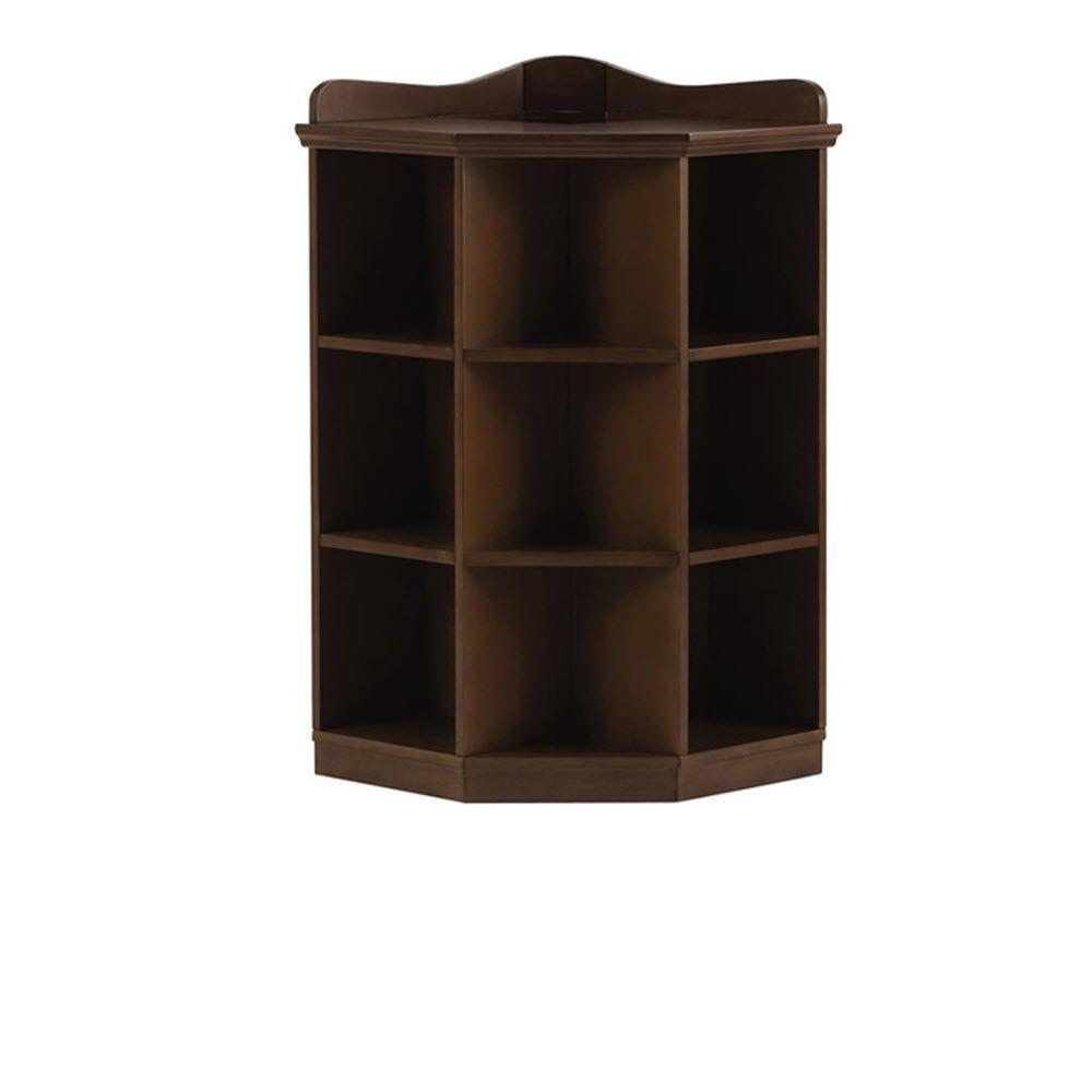 Home Decorators Collection Kids 3-Shelf Brown Wood Tone Corner Book Storage