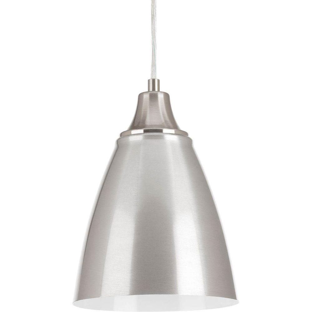 Progress lighting pure integrated led collection 1 light brushed progress lighting pure integrated led collection 1 light brushed nickel cord hung mini pendant with arubaitofo Image collections
